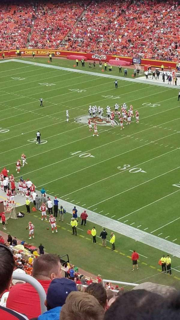 Arrowhead Stadium, section: 318, row: 15, seat: 20