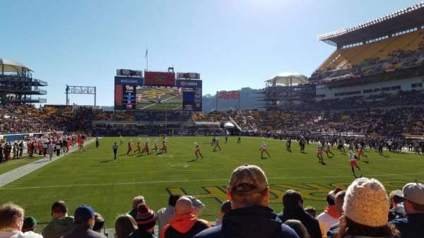 Heinz Field, section: 121, row: G, seat: 12