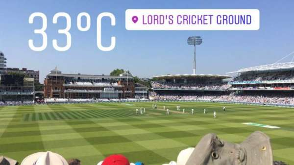 Lord's Cricket Ground, section: Edrich Stand, row: 11H, seat: 30