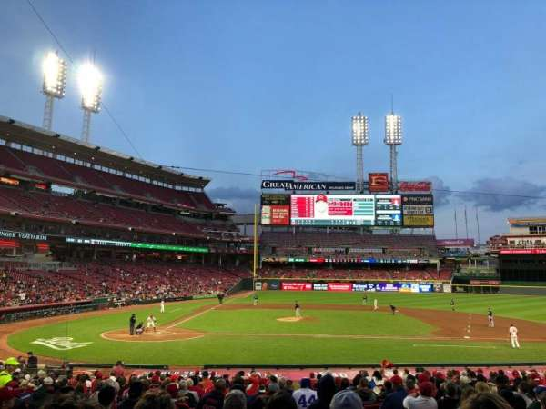 Great American Ball Park, section: 128, row: BB, seat: 3