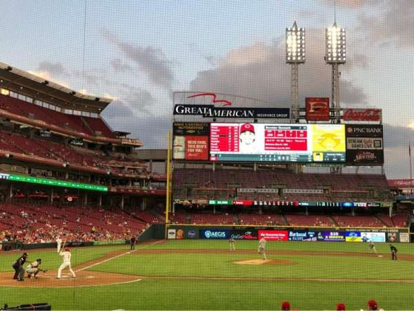 Great American Ball Park, section: 128, row: N, seat: 8