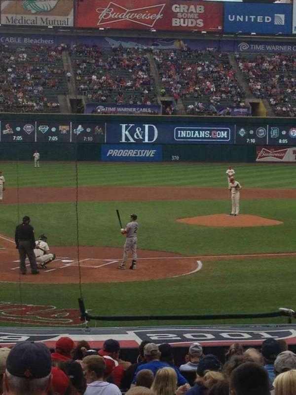 Progressive Field, section: 152, row: L, seat: 4