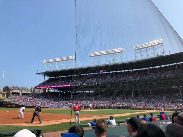 Wrigley Field, section: 10, row: 3, seat: 105