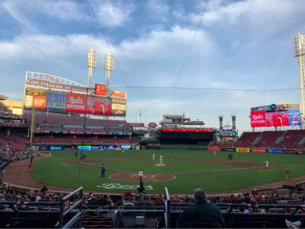 Great American Ball Park, section: 124, row: A, seat: 7