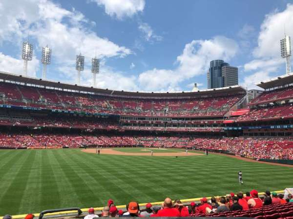 Great American Ball Park, section: 102, seat: 1