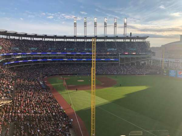 Progressive Field, section: 416, row: E, seat: 3