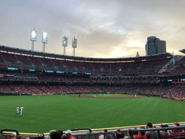 Great American Ball Park, section: 102, row: T, seat: 4