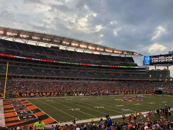 Paul Brown Stadium, section: 146, row: 23, seat: 23