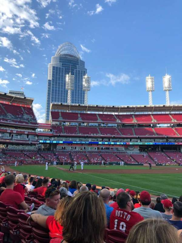 Great American Ball Park, section: 135, row: I, seat: 6