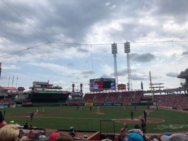 Great American Ball Park, section: 120, row: R, seat: 5