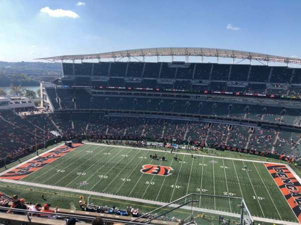 Paul Brown Stadium, section: 338, row: 19, seat: 1