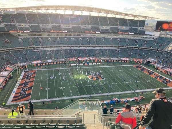 Paul Brown Stadium, section: 343, row: 22, seat: 2