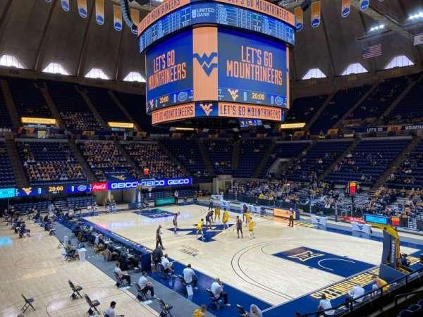 WVU Coliseum, section: 104, row: H, seat: 2