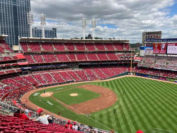 Great American Ball Park, section: 535, row: L, seat: 1