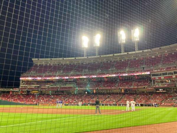 Great American Ball Park, section: 112, row: B, seat: 9