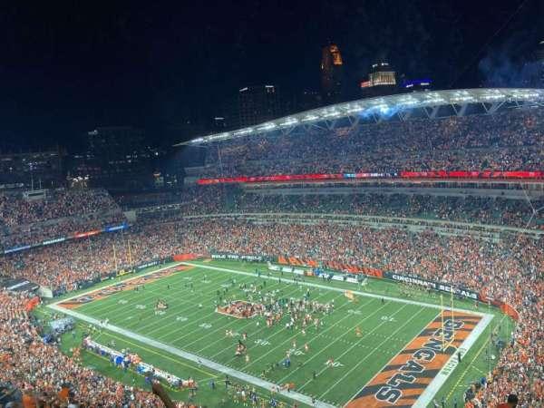 Paul Brown Stadium, section: 304, row: 23, seat: 5