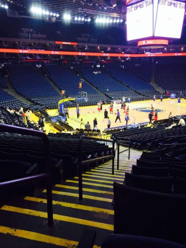 Oracle Arena, section: 104, row: 10, seat: 7