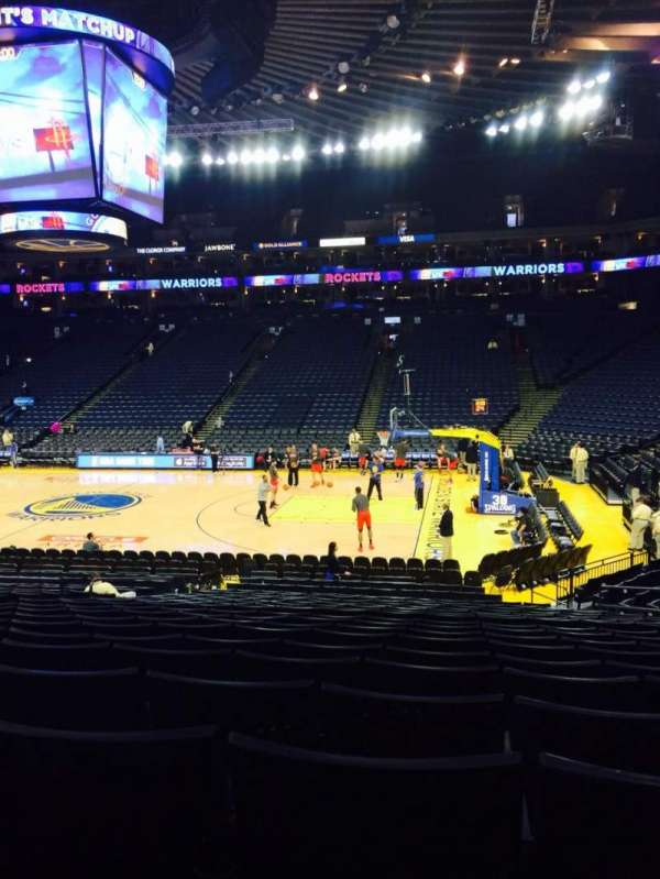Oracle Arena, section: 113, row: 16, seat: 5