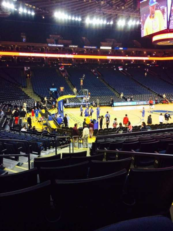 Oracle Arena, section: 117, row: 14, seat: 3