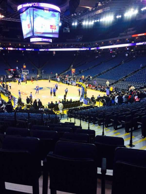 Oracle Arena, section: 123, row: 18, seat: 7