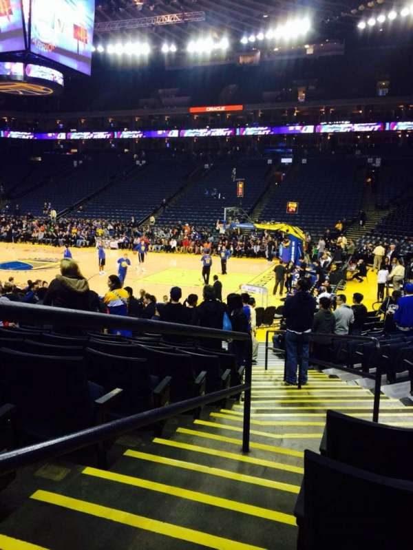 Oracle Arena, section: 126, row: 12, seat: 4