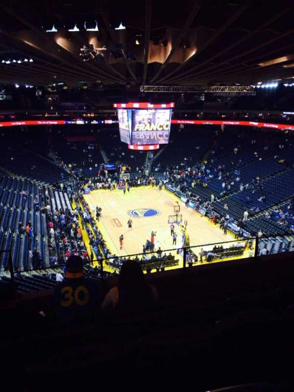 Oracle Arena, section: 210, row: 5, seat: 4