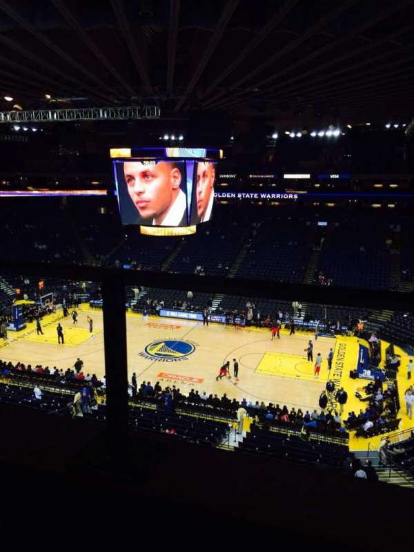 Oracle Arena, section: 215, row: 1, seat: 6