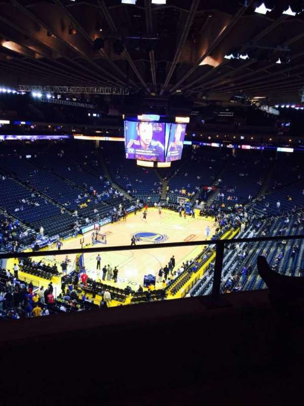 Oracle Arena, section: 222, row: 2, seat: 5