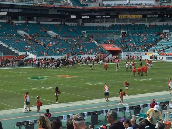 Hard Rock Stadium, section: 122, row: 18, seat: 6