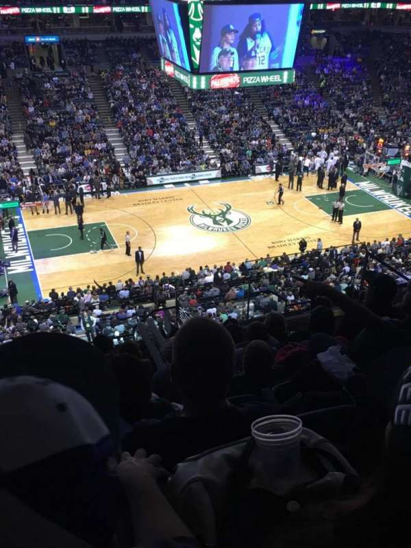 BMO Harris Bradley Center, section: 424, row: M, seat: 6
