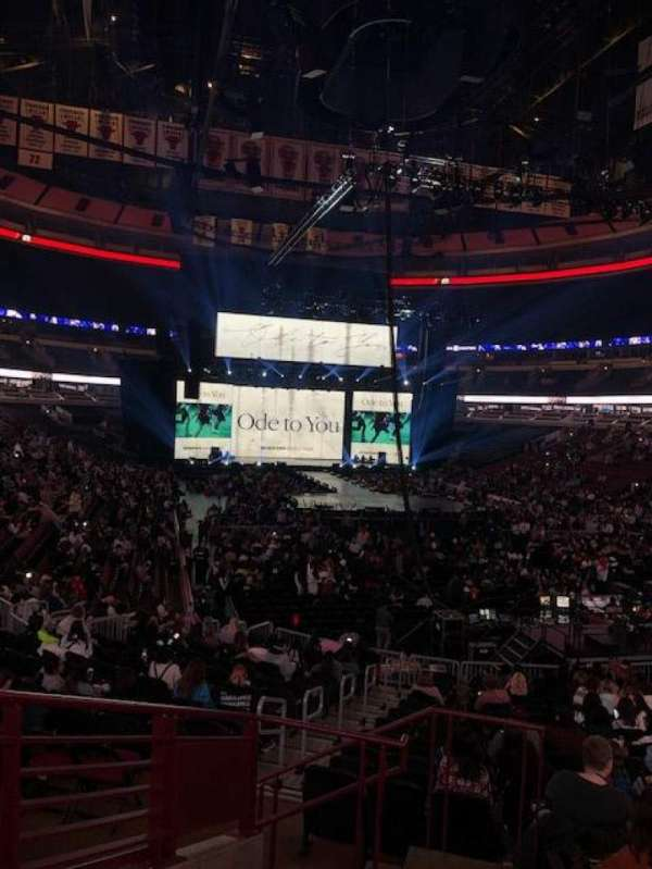 United Center, section: 107, row: 19, seat: 21