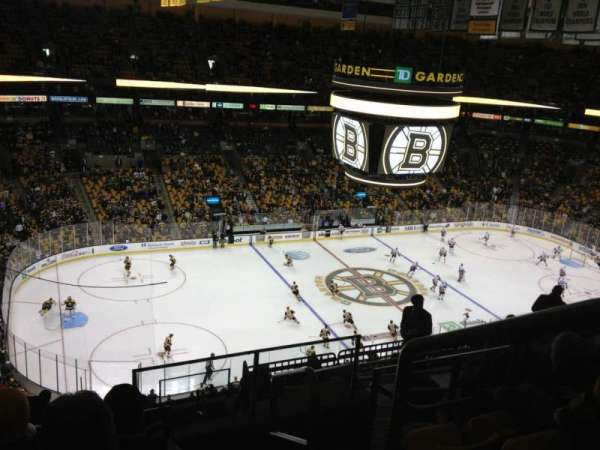 TD Garden, section: Bal 319, row: 11, seat: 1