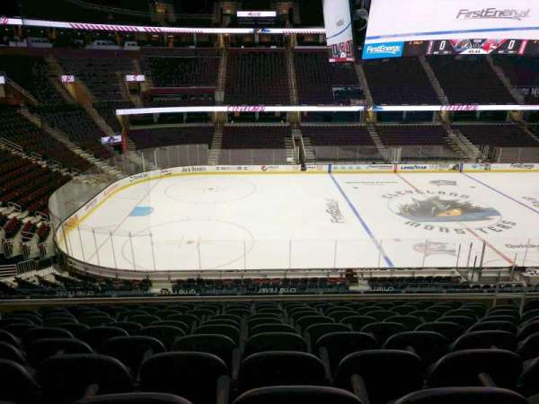 Quicken Loans Arena, section: C107, row: 25, seat: 9
