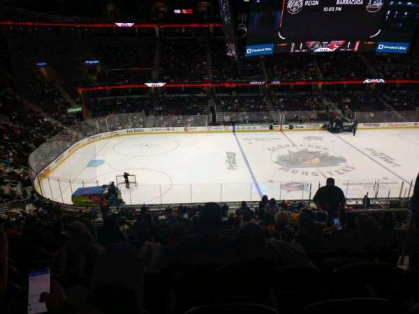 Quicken Loans Arena, section: C107, row: 29, seat: 13