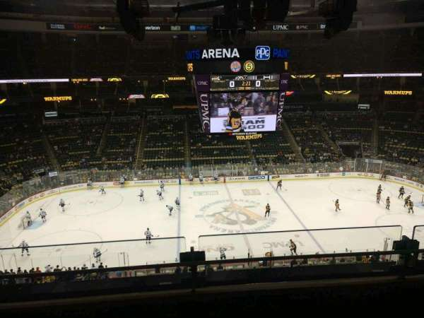 PPG Paints Arena, section: 203, row: B, seat: 12