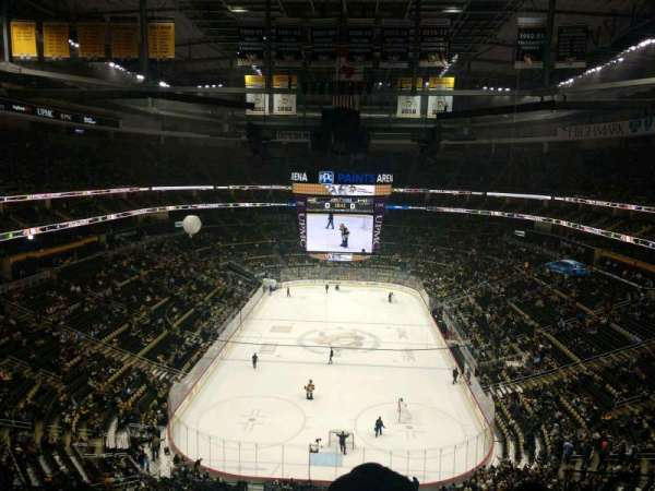 PPG Paints Arena, section: 211, row: F, seat: 4