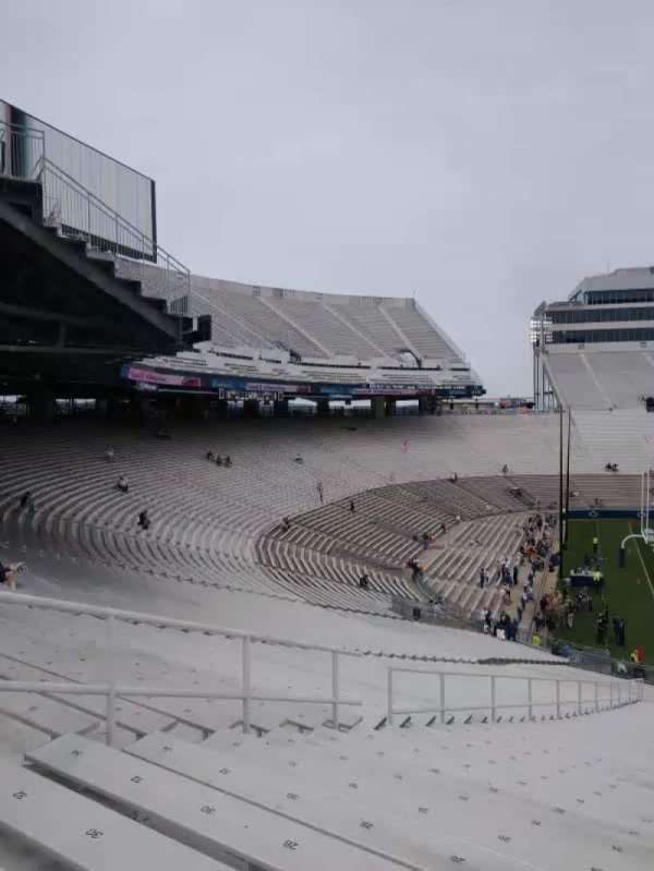 Beaver Stadium, section: WJ, row: 40, seat: 20