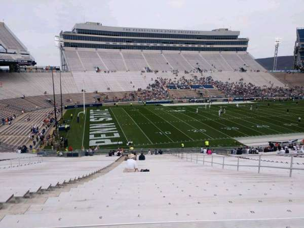 Beaver Stadium, section: WJ, row: 40, seat: 7