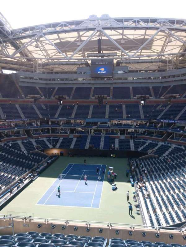 Arthur Ashe Stadium, section: 120, row: J, seat:  7