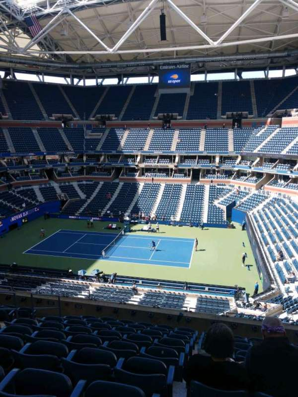 Arthur Ashe Stadium, section: 112, row: J, seat: 7