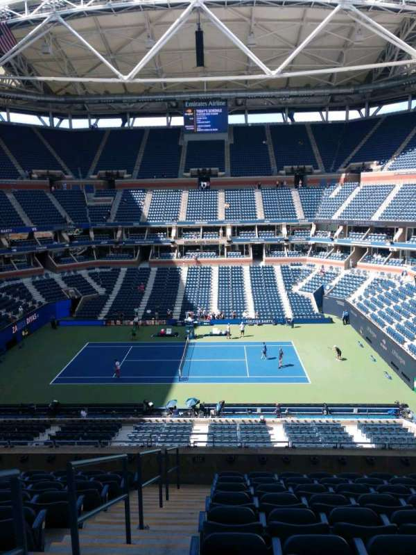 Arthur Ashe Stadium, section: 111, row: J, seat: 1