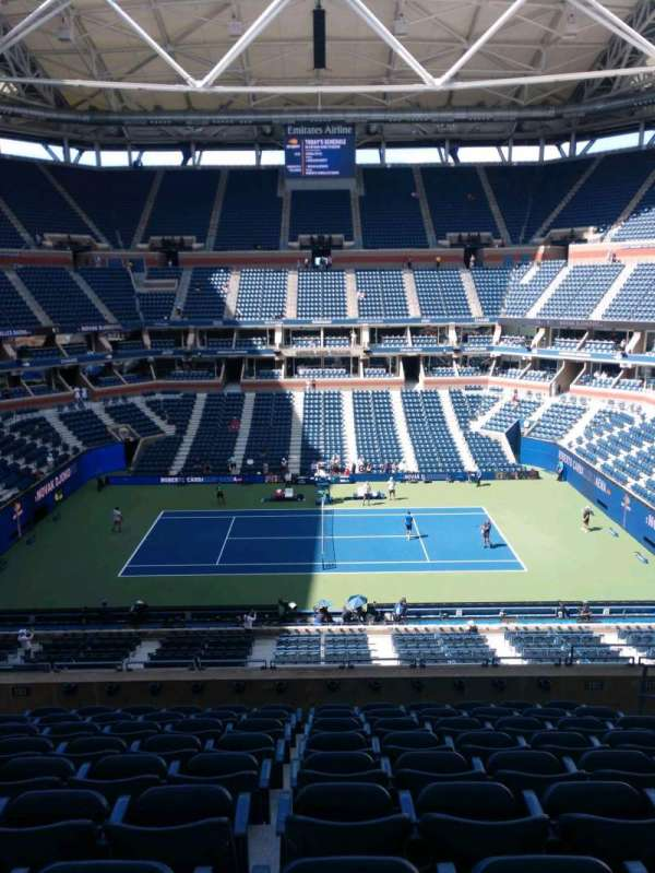 Arthur Ashe Stadium, section: 110, row: J, seat: 7