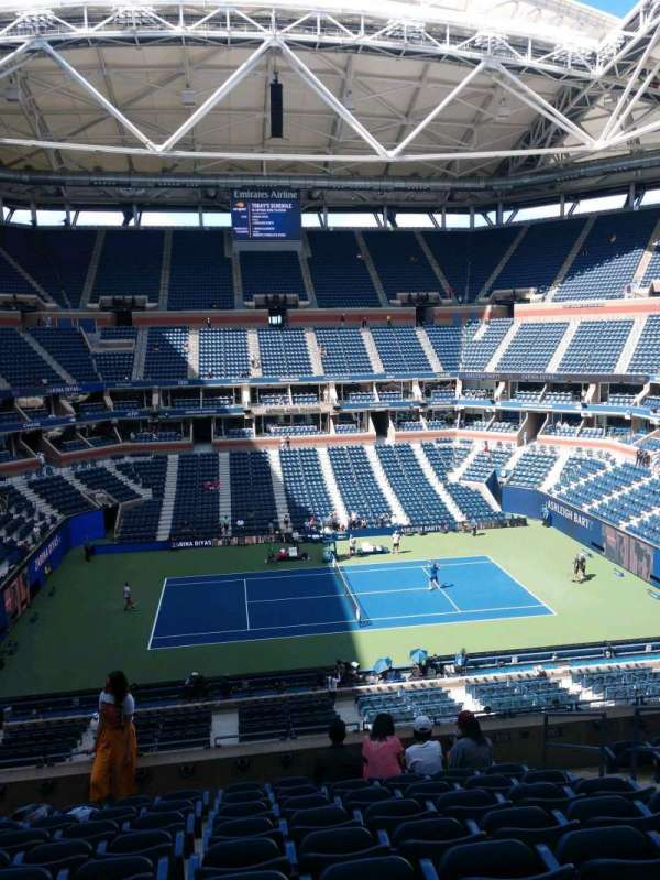 Arthur Ashe Stadium, section: 109, row: J, seat: 7