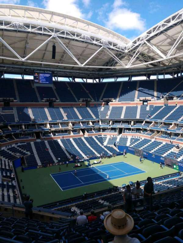 Arthur Ashe Stadium, section: 107, row: J, seat: 13
