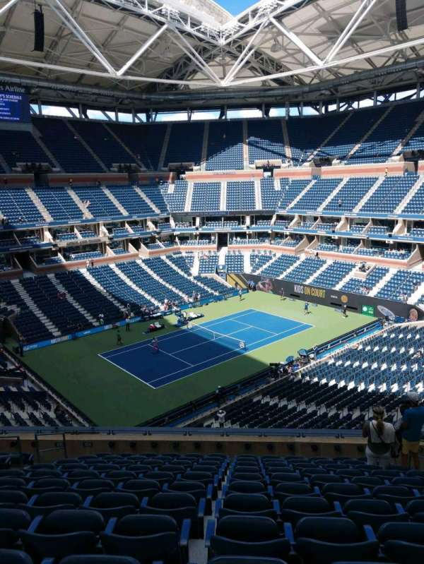 Arthur Ashe Stadium, section: 106, row: J, seat: 7