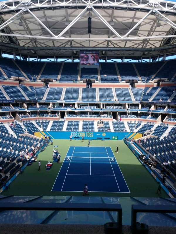 Arthur Ashe Stadium, section: 101, row: A, seat: 7