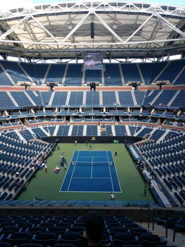 Arthur Ashe Stadium, section: 101, row: K, seat: 10