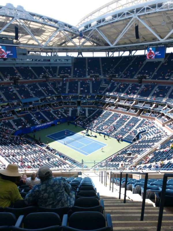 Arthur Ashe Stadium, section: 316, row: O, seat: 1
