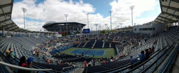 Billie Jean King National Tennis Center, Grandstand, section: M, row: 14, seat: 1