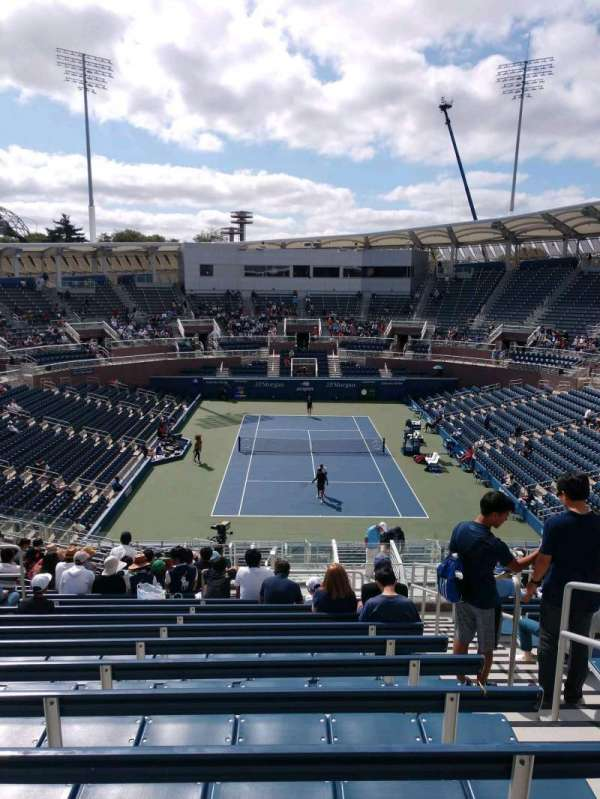 Billie Jean King National Tennis Center, Grandstand, section: B, row: P, seat: 3